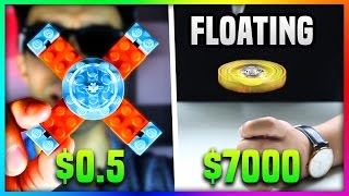 $0.5 LEGO FIDGET SPINNER Vs. $7000 FIDGET SPINNER (Floating Fidget Spinner VS Lego Fidget Spinner)