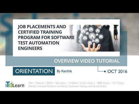 Job Placements and Certified Training program for Software Test ...