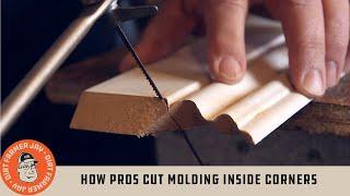 How Pros Cut Molding Inside Corners