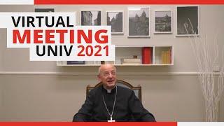 Una conferenza zoom internazionale tra i giovani dell'UNIV e il prelato