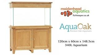 Aqua Oak 120cm x 60cm '2 Doors' Aquarium and Cabinet (AQ120D)