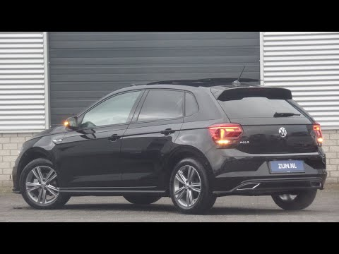 Volkswagen NEW Polo R-Line in 4K 2020 Deep Black Pearl 16 inch Sebring walk around & detail inside