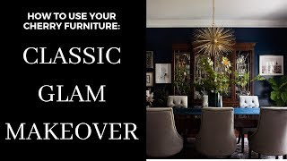 Classic Glam Dining Room Makeover With Cherry Furniture!