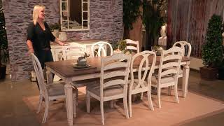 Realyn Chipped White Extendable Rectangular Dining Room Set From Signature Design By Ashley
