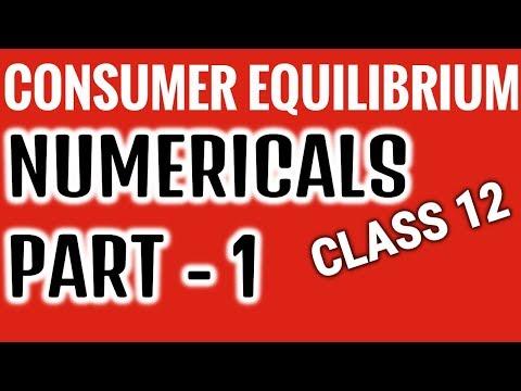 Numericals  -Consumer Equilibrium- Part 1- Class XII