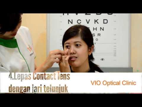 VIO Optical Clinic Tutorial : cara memasang dan melepas Contact lens