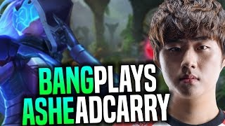 Bang Wants to Play Ashe ADC! - SKT T1 Bang SoloQ Playing Ashe AD Carry | SKT T1 Replays