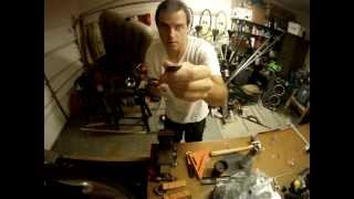 Bending flat bar with a vise and hammer