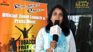 Kala Balasundaram Speaks at Tobacco Free India Press Meet