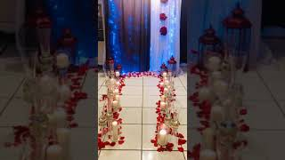 ROMANTIC WEDDING CEREMONY BACKDROP WITH CANDLES - Pro Event Planners