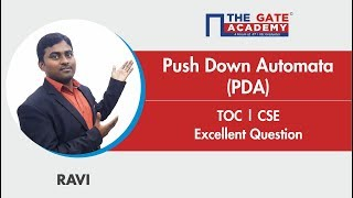 Pushdown Automata | Excellent Question - GATE Sol | TOC | Computer Science Engineering