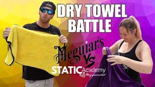 Drying Towel Battle - Meguiars vs Static Academy