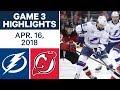 NHL Highlights  Lightning vs Devils Game 3  Apr 16 2018