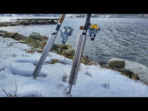 Rutenhalter aus Edelstahl selber bauen - Angelrutenhalter als Erdspieß