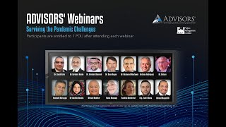 ADVISORS Webinars - Surviving the Pandemic Challenges