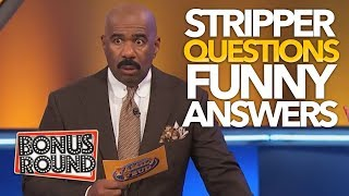 STEVE HARVEY Asks STRIPPER Questions On Family Feud USA & Gets Some Funny Answers!