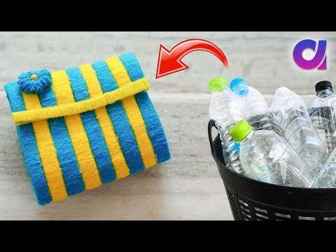 Best Out Of Waste Plastic Bottle Craft Idea Plastic Bottle Purse Artkala