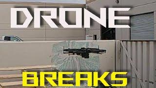 FPV style drone breaks glass. CRAZY!