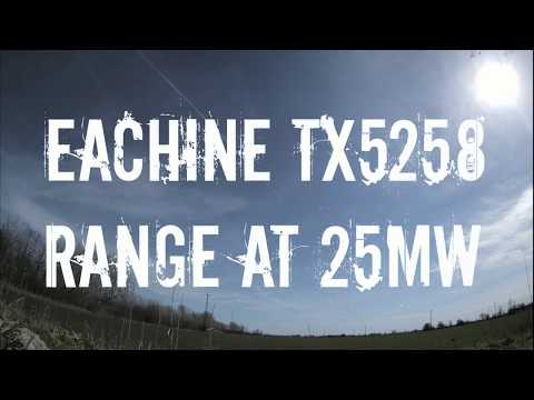 Eachine TX5258 range test at 25mW