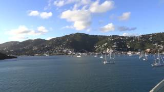 preview picture of video 'Charlotte Amalie, St. Thomas, USVI - Jewel of the Seas Departure HD (2015)'