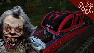 360° Roller coaster IT Chapter 2 Movie themed VR POV Ride 360 도 롤러코스터 탐험 ジェットコースター