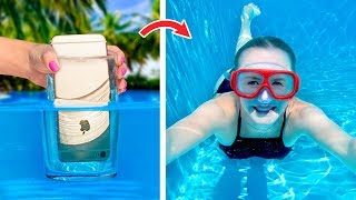 12 แบบเรียบง่ายและตลกๆในสระว่ายน้ำ แฮ็คและเล่นเกม / เล่นแผลง ๆ