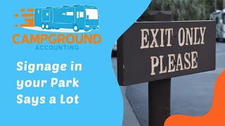 Campground Accounting: Park Signage