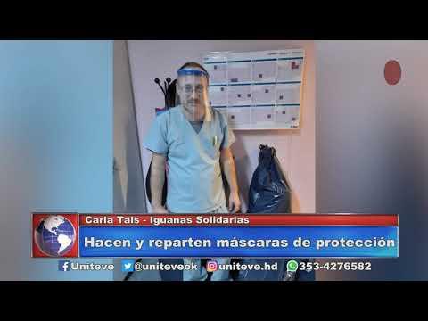 Hacen y reparten máscaras de protección