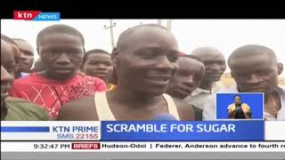 Residents of Mamboleo treated to free sugar after lorry rammed into a church