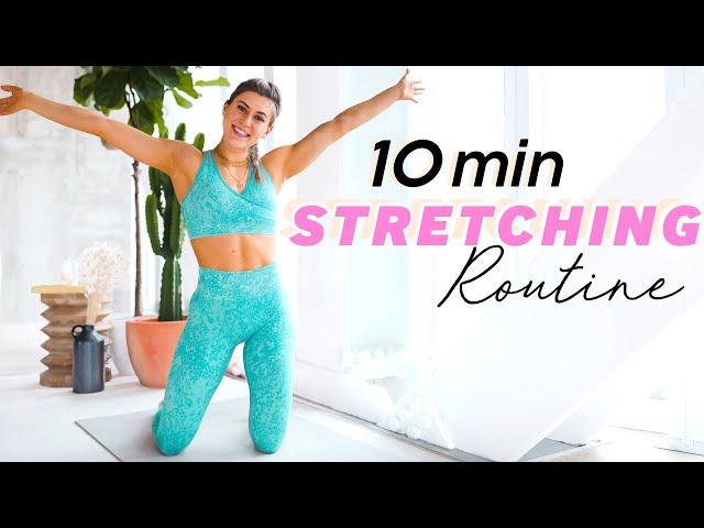 10 min FULL BODY STRETCH + FLEXIBILITY ROUTINE // Beginner to Advanced