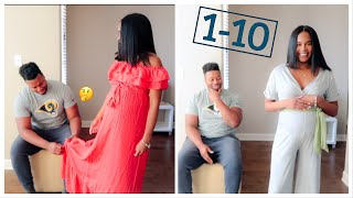 Husband Rates My Maternity Outfits| Maternity Try On | PinkBlush