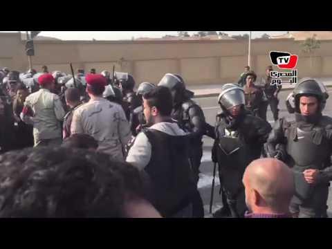 مشادات بين الأمن ومواطنون بعد خروج جثامين شهداء «الكنيسة البطرسية»