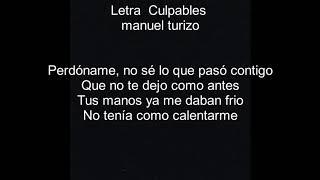 Culpables Letra   Manuel Turizo