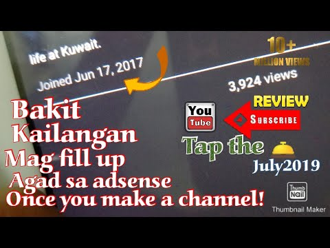 Why we need to sign up adsense immediately (tagalog) #2minitschikanilolahz