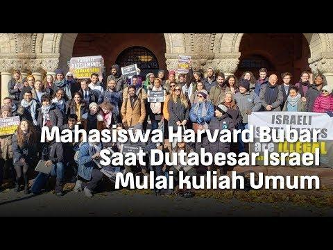 Mahasiswa Harvard Bubar Saat Dutabesar Israel Mulai kuliah Umum