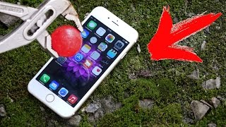 ЧТО ЕСЛИ РАСКАЛЕННЫЙ СТАЛЬНОЙ ШАР 800 ГРАДУСОВ ПОЛОЖИТЬ iPhone 6s ?!