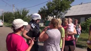 ч2 ОБСЕ приехало в Горловку Никитовку после артобстрела