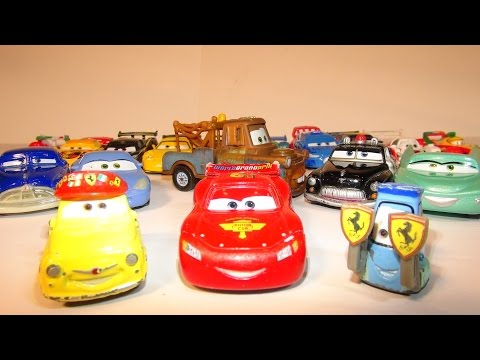 PIXAR CARS LUIGI AND GUIDO COLLECTION FROM THE DISNEY CARS CHARACTER ENCYCLOPEDIA PART 6