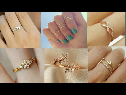 SIMPLE LIGHT WEIGHT GOLD HAND RINGS DESIGNS || SIMPLE RINGS 2019 ||