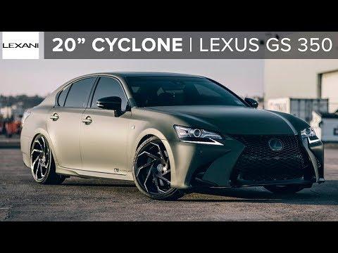 """Matte Lexus GS 350 on 20"""" Lexani Cyclone Wheels"""