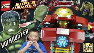 LEGO Hulk Buster Smash Build Review Fun! Avengers Age of Ultron Stop Motion & Timelapse (Marvel)