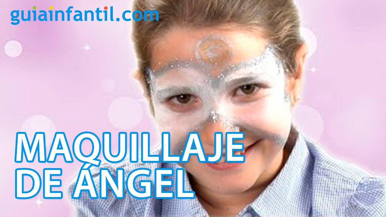 Maquillaje para Navidad de cara de ángel