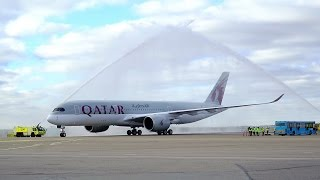 Qatar Airways Inaugural Flight to Helsinki with the Airbus A350