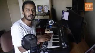 In studio with music director Charan Raj
