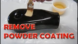 How to remove powder coating with diy stripper