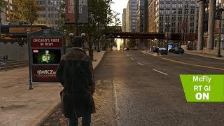 Watch Dogs Ray tracing Global Illumination E3 MOD Natural  Realistic Lighting mod  Apex ReShade