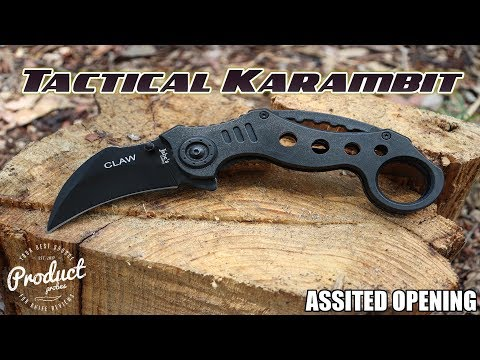 Jabes Cutlery The Claw - Quick Release Black Tactical Karambit Knife