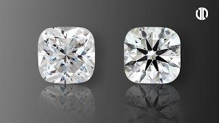 Light Performance Comparison Between Cushion Brellia And Normal Cushion Cut Diamond