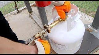 How do you refill a disposable Propane tank