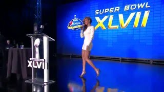 Beyoncé Sings the National Anthem | Super Bowl XLVII Halftime Show Press Conference